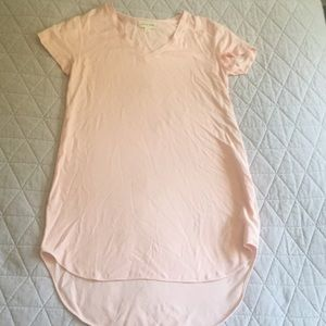 Cloth & Stone Pink High Low Tunic Top Dress S